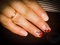 френч, рисунки на ногтях